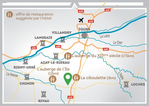 Carte de localisation du château de Brou