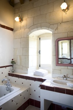 Salle de bain de la chambre Rabelais