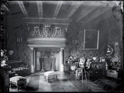 Ancienne photo de l'intérieur de Château de Brou