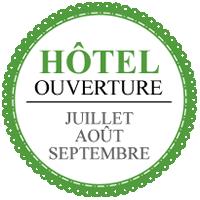Ouverture de l'hôtel en juillet août septembre, sous réserve de disponibilité